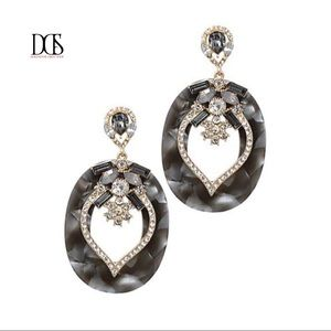 Just In! Celluloid Fashion Stone Drop Earrings